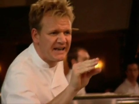 it didnt get better when she started back talking to gordon and demanded her to shut her mouth and just pay attention and cook - Hells Kitchen Season 1