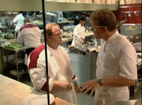 during the second dinner service dewberry was doing well with his appetizers namely his spaghetti gordon was pleased with his appetizers and he was doing - Hells Kitchen Season 1